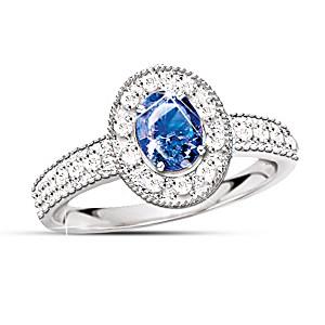 The 1/2 Carat Sapphire And Diamond Ring