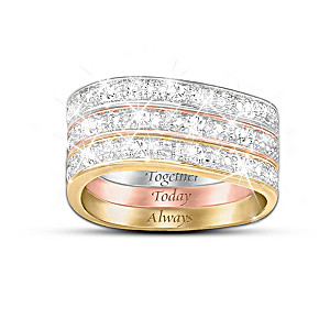 """Timeless Love"" 3-Band 9-Diamond Ring"