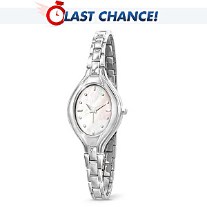 Engraved Mother Of Pearl Watch For Granddaughter