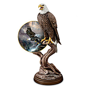 Bald Eagle Sculpture With Art By Ted Blaylock