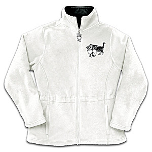 Lisa McCue Cat Art Reversible Fleece Jacket