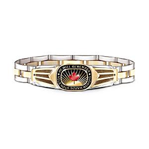 """""""Lest We Forget"""" Canadian Pride Men's Bracelet"""