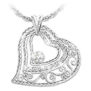 """""""Our Love Grows"""" Heart-Shaped Diamond Pendant Necklace"""