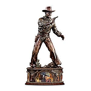 John Wayne Taming The West Bronze-Finished Sculpture