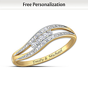 """""""Enchantment"""" Personalized 10K Gold And Diamond Ring"""
