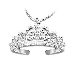 Royal Wedding Tiara Diamonesk Pendant Necklace