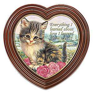 "Jürgen Scholz ""Bundle Of Love"" Cat Art On Canvas"