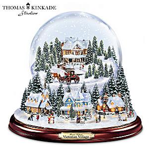 Thomas Kinkade Holiday Village Illuminated Musical Snowglobe