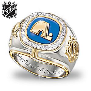NHL®-Licensed Quebec Nordiques™ 10-Diamond Ring