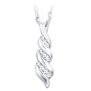 """""""Our Love For Always"""" Diamond Pendant Necklace"""