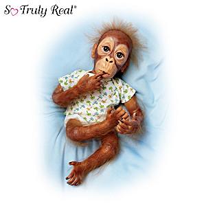Baby Pongo, So Truly Real Poseable Orangutan Baby Doll