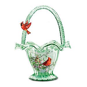 """James Hautman """"Cardinal Serenade"""" Hand-Blown Art Glass Bowl"""