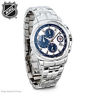 Winnipeg Jets™ Stainless Steel Chronograph Watch