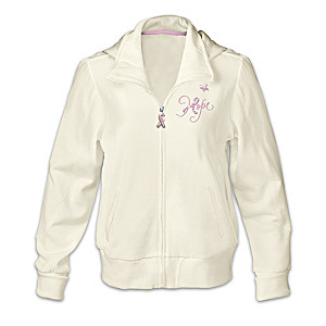 """""""Celebrate Life"""" Breast Cancer Support Women's Hooded Jacket"""