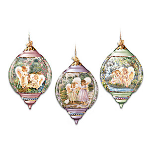"""Dona Gelsinger """"Sisters Are Angels"""" Ornaments: Set Of Three"""
