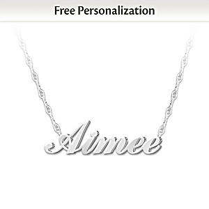 """""""Granddaughter, I Love You"""" Personalized Diamond Necklace"""