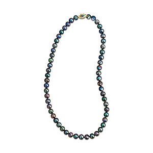 """""""Peacock Passion"""" Freshwater Cultured Pearl Necklace"""