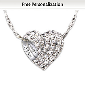 """""""All My Love"""" Personalized Diamond Pendant Necklace"""