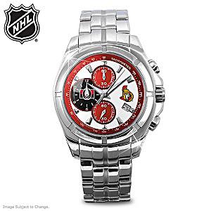 Ottawa Senators™ Stainless Steel Chronograph Watch