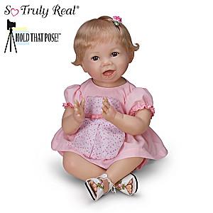 """Bonnie Chyle """"Hannah"""" Poseable Lifelike Baby Girl Doll"""