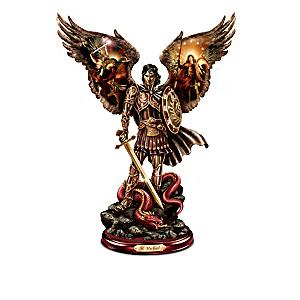 """""""Michael: Triumphant Warrior"""" Cold-Cast Bronze Sculpture"""