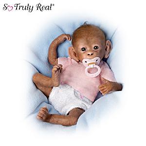 """Coco"" Poseable Lifelike Baby Monkey Doll By Linda Murray"