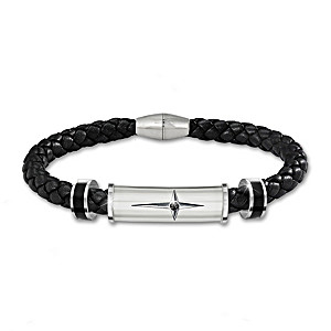 """""""Protection And Strength For My Son"""" Religious Bracelet"""