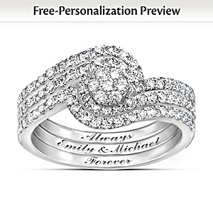 """Personalized """"The Story Of Our Love"""" 3-Band Diamond Ring"""