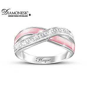 """""""Reflections Of Hope"""" Breast Cancer Support Diamonesk Ring"""