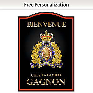 RCMP Personalized Wall Decor - Black, French Wording