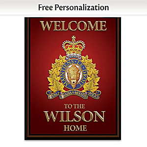 RCMP Personalized Wall Decor - Red, English Wording