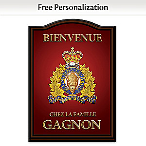 RCMP Personalized Wall Decor - Red, French Wording