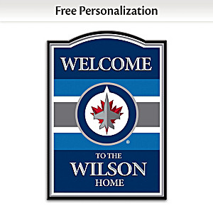 Winnipeg Jets™ Welcome Sign Personalized With Name