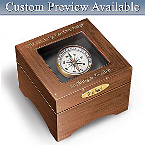"""""""Son, Forge Your Path"""" Name-Engraved Keepsake Box"""