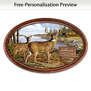 """""""Woodland Retreat"""" Collector Plate With Your Family Name"""