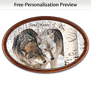 """""""Soul Mates"""" Personalized Masterpiece Framed Plate"""