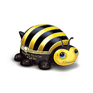 """""""Daughter, You're Cute As Can Bee"""" Porcelain Music Box"""