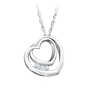 """""""Daughter, I'll Love You Forever"""" Engraved Topaz Necklace"""