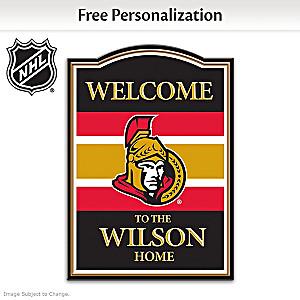 Ottawa Senators® Welcome Sign Personalized With Name