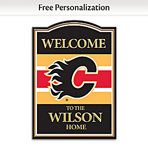 Calgary Flames® Welcome Sign Personalized With Name