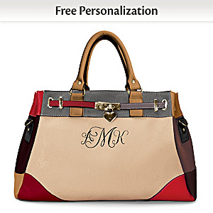 """""""My Personal Style"""" Satchel Embroidered With Monogram"""