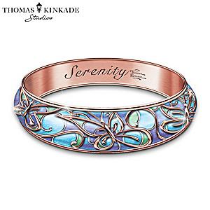 "Thomas Kinkade ""Serenity"" Engraved Copper Wellness Bracelet"