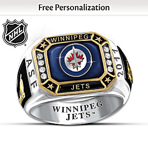 Winnipeg Jets™ Monogrammed Men's Ring