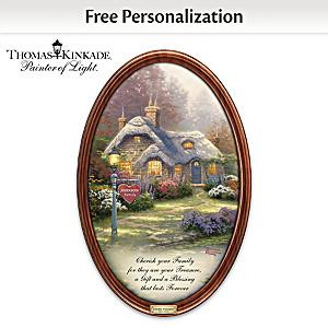 Thomas Kinkade Family Treasures Plate With Your Family Name