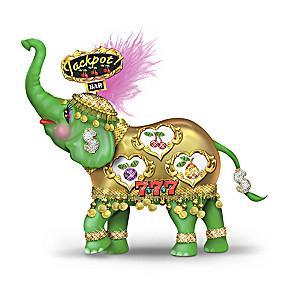 "Margaret LeVan ""Slots Of Luck"" Vegas-Style Elephant Figurine"