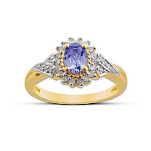"""Mystique"" Sterling Silver Tanzanite And Diamond Ring"
