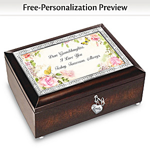 Granddaughter I Love You Personalized Wooden Music Box