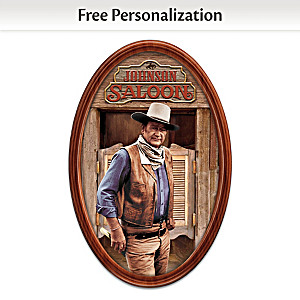 John Wayne Framed Plate Personalized With Your Family Name