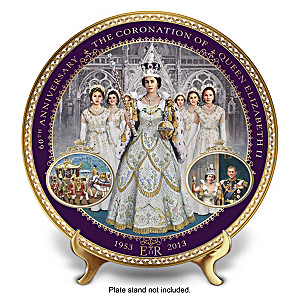 Queen Elizabeth II Commemorative Coronation Collector Plate