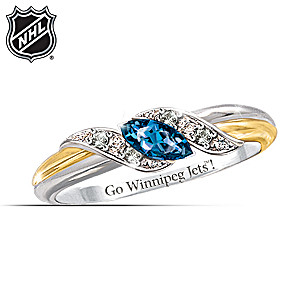 Winnipeg Jets™ Pride Engraved Embrace Ring
